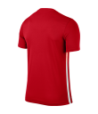 Kids Nike SS Striped Division II Tee - University Red / White